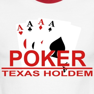 poker_texas_holdem1 T-Shirts - Men's Ringer T-Shirt