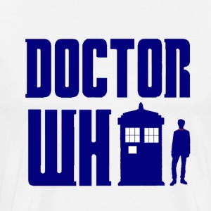 Doctor Who -11th Doctor and Tardis - Men's Premium T-Shirt