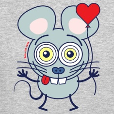 Little mouse falling madly in love Long Sleeve Shirts