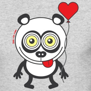 Panda bear feeling madly in love Long Sleeve Shirts - Men's Long Sleeve T-Shirt by Next Level