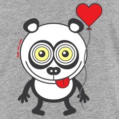 Panda bear feeling madly in love Kids' Shirts