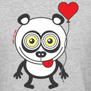 Panda bear feeling madly in love Long Sleeve Shirts - Crewneck Sweatshirt