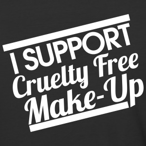 i support cruelty free makeup - Baseball T-Shirt
