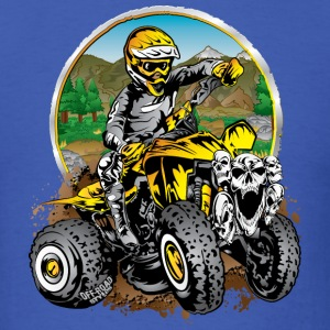 ATV Quad Cartoon Yellow T-Shirts - Men's T-Shirt