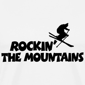 Rockin The Mountains T-Shirt (Men) - Men's Premium T-Shirt