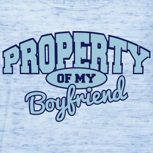 Property Of My Boyfriend Tanks - Women's Flowy Tank Top by Bella