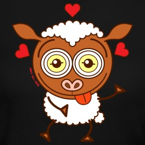 Crazy sheep feeling lucky in love Long Sleeve Shirts - Women's Long Sleeve Jersey T-Shirt