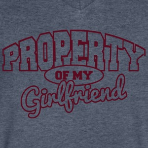 Property of my girlfriend T-Shirts - Men's V-Neck T-Shirt by Canvas