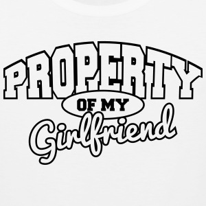 Property of my girlfriend Tank Tops - Men's Premium Tank