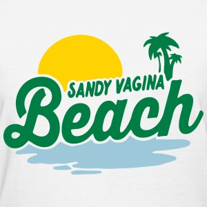 Sandy Vagina Beach - Women's T-Shirt