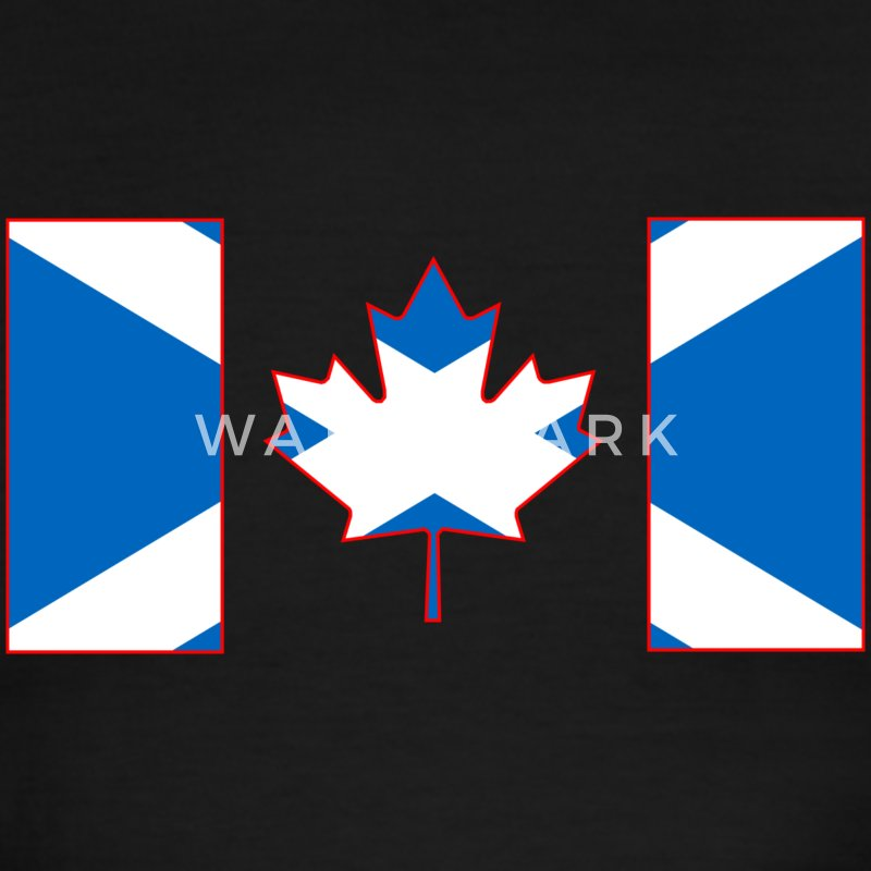 Scottish Canadian Flag on Tshirt - Men's Ringer T-Shirt