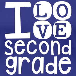 I Love 2nd Grade - Women's Premium T-Shirt