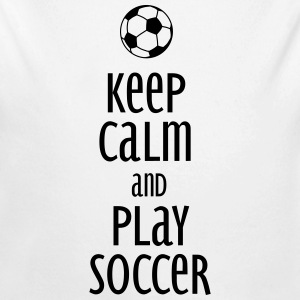 keep calm and play soccer Baby & Toddler Shirts - Long Sleeve Baby Bodysuit