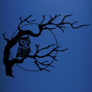 Owl on Tree branch - Full Color Mug