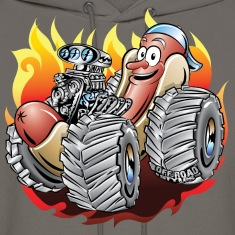 Hot Dog Monster Truck 1 Hoodies