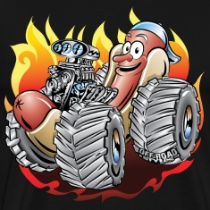 Hot Dog Monster Truck 1 T-Shirts