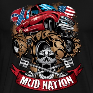 Mud Truck Cartoon Nation T-Shirts - Men's Premium T-Shirt