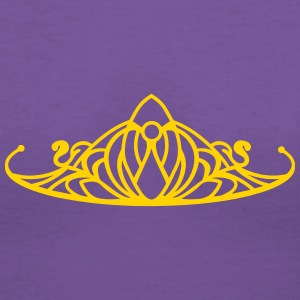 An ornament in the style of a Tiara Women's T-Shirts - Women's V-Neck T-Shirt