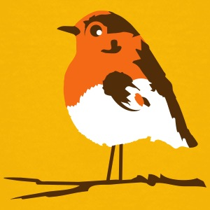 A robin on branch Kids' Shirts - Kids' Premium T-Shirt
