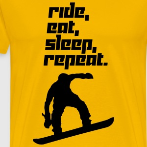 Ride, eat, sleep, repeat. 2 (Vector) - Men's Premium T-Shirt