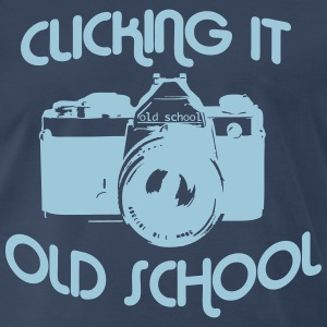 Clicking it old school - Men's Premium T-Shirt