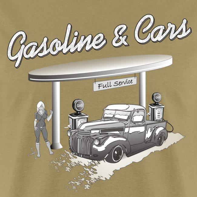Vintage Car & Gas Station | Men's T-Shirt