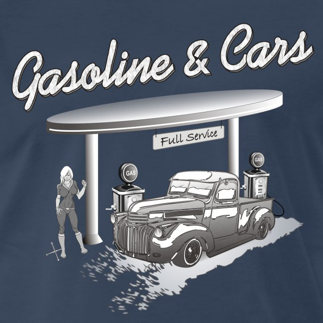 Vintage Car & Gas Station