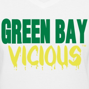 GREEN BAY VICIOUS Women's T-Shirts - Women's V-Neck T-Shirt