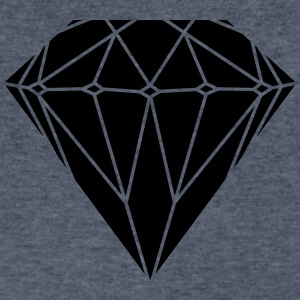 diamond  T-Shirts - Men's V-Neck T-Shirt by Canvas