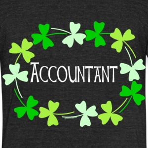 Accountant Shamrock Oval Light T-Shirts - Unisex Tri-Blend T-Shirt by American Apparel