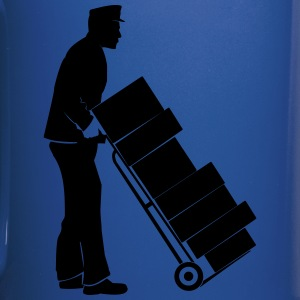 Worker Moving Trolley Sil - Full Color Mug