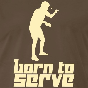 Born to Serve (Vector) - Men's Premium T-Shirt