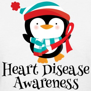 Heart Disease Awareness Penguin Women's T-Shirts - Women's T-Shirt