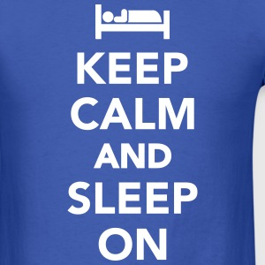 Keep calm and sleep on T-Shirts - Men's T-Shirt