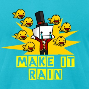 Make it Rain-male  - Men's T-Shirt by American Apparel