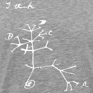 Darwin I Think Tree T-Shirts - Men's Premium T-Shirt