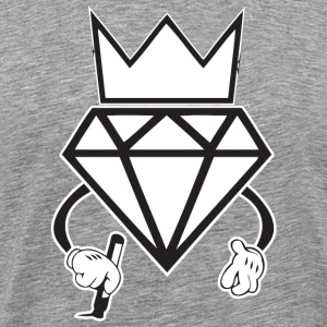 diamond crown graffiti T-Shirts - Men's Premium T-Shirt