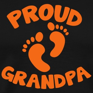 proud grandpa with cute little feet T-Shirts - Men's Premium T-Shirt