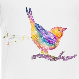 Swirly Bird - Toddler Premium T-Shirt