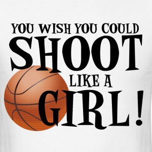 Shoot Like a Girl T-Shirts - Men's T-Shirt
