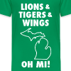 LIONS & TIGERS & WINGS, OH MI! white - Kids' Premium T-Shirt