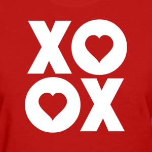 XOXO Hugs and Kisses Valentine's Day Women's T-Shirts - Women's T-Shirt