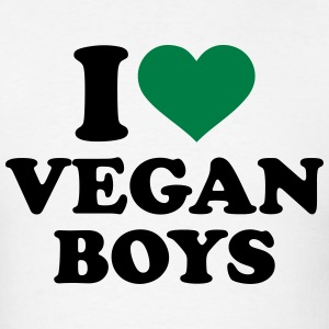 I love Vegan boys T-Shirts - Men's T-Shirt