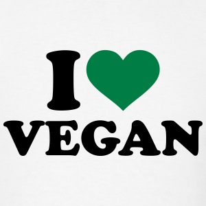 I love Vegan T-Shirts - Men's T-Shirt