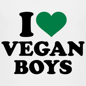 I love Vegan boys Kids' Shirts - Kids' Premium T-Shirt
