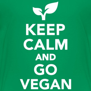 Keep calm and go Vegan Kids' Shirts - Kids' Premium T-Shirt