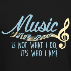 Music is not what I do, it's who I am! Long Sleeve Shirts