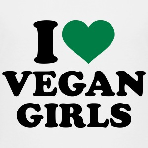 I love Vegan girls Kids' Shirts - Kids' Premium T-Shirt