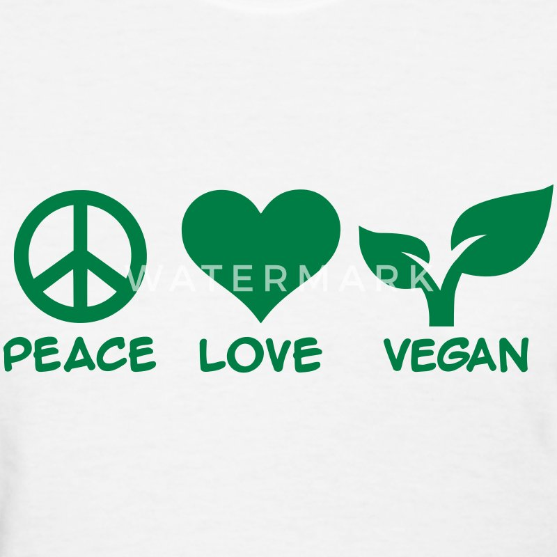Peace love Vegan Women's T-Shirts - Women's T-Shirt