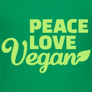 Peace love Vegan Kids' Shirts - Kids' Premium T-Shirt
